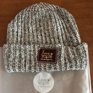 love your melon Accessories - Love Your Melon Black Speckled Gold Foil  Beanie bc02834b552